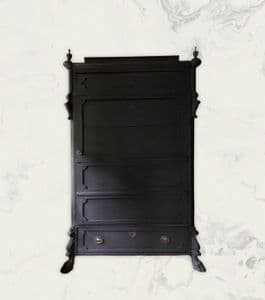 Antique Painted French Gustavian c1800s Solid Pine Cupboard Armoire